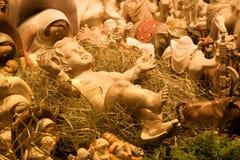 Christ-criança na ucha Foto de Stock