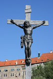 Christ on a Cross. Jesus on a cross, Cesky Krumlov, Czech Republic royalty free stock image
