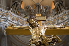 The Christ on cross. The Christ on a cross in germany Royalty Free Stock Image