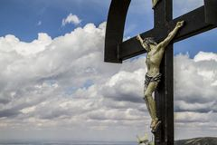 Christ crucified. On the cross Royalty Free Stock Images