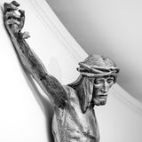 Christ crucified stock photography