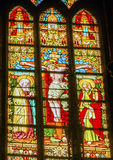 Christ Crucifixion Stained Glass De Krijtberg Amsterdam Netherlands Royalty Free Stock Images
