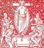 christ czerwieni wskrzeszanie ilustracja wektor