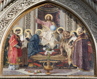 christ detalj florence protal jesus Royaltyfri Bild