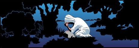 Christ di preghiera Fotografia Stock Libera da Diritti