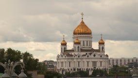 Christ die Retter-Kathedrale in Moskau stock video footage