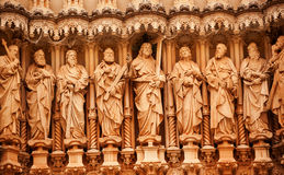 Christ Disciple Statues Monastery of Montserrat Spain royalty free stock photos