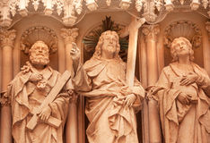 Christ Disciple Statues Monastery of Montserrat Spain Stock Photo