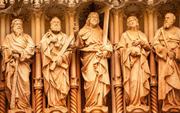 Christ Disciple Statues Monestir Monastery of Montserrat Spain stock photography