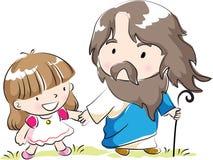 Christ e bambini Fotografia Stock