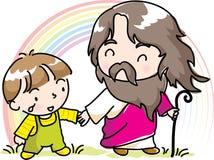 Christ e bambini Fotografia Stock Libera da Diritti