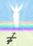 Christ and Easter symbol with Orthodox Cross Shadow Royalty Free Stock Images