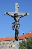 Christ em uma cruz imagem de stock royalty free