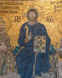 Christ enthroned, flanked by  Constantine IX Monomachus Royalty Free Stock Images