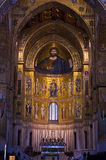 Christ fresco inside Monreale cathedral near Palermo, Sicily Royalty Free Stock Image