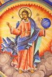 christ fresco jesus Arkivbilder