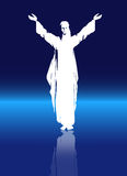 Christ with Full Moon Royalty Free Stock Images