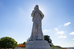 Christ of Havana Cuba in Carrara marble Sacred Heart of Jesus. Christ of Havana in Cuba in Carrara marble Sacred Heart of Jesus royalty free stock photos