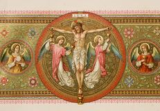 Christ im Kreuz stockbilder