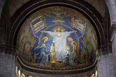 Free Christ In Majesty Is Surrounded By The Virgin Mary, Joan Of Arc And St. Michael Stock Photos - 137213323