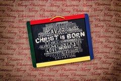 Christ ist geboren Stockbilder