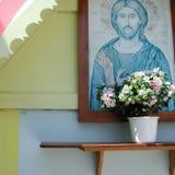 christ jesus målning Royaltyfria Foton