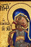 christ jesus mary mosaikoskuld Royaltyfri Foto