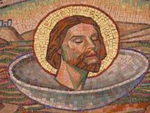 christ jesus mosaiktegelplattor arkivfoto