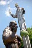 christ jesus skulptur skulpterar två Royaltyfria Bilder