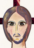 christ jesus stående Samtida konst Royaltyfri Foto