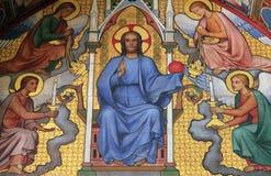 Christ in Judgement. La Sainte Chapelle in Paris, France Stock Images