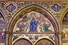 Christ in Judgement mosaic inside Sainte-Chapelle in Paris Stock Image