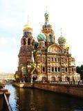 christ katedralny st Jesus Petersburg Russia Zdjęcie Stock