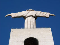 Christ King. Statue of Cristo Rei (Chist King) in Almada, Portugal Stock Photo