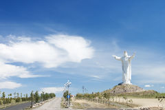 Christ the King Monument in Swiebodzin-Poland. Stock Photo