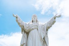 Christ the King. Statue of Jesus. Statue Nha Trang Cathedral Royalty Free Stock Image