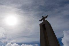 christ konung lisbon portugal Royaltyfri Bild