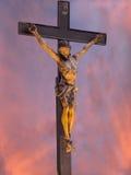 christ korsfäste jesus Fotografering för Bildbyråer
