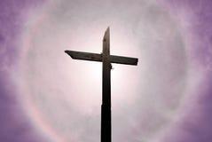 Christ kreuzen vorbei schönen sonnigen Himmel lizenzfreie stockbilder