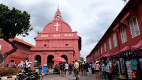christ kyrklig landmarkmalacca malaysia melaka Royaltyfria Bilder