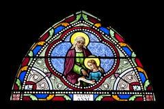 christ kyrkliga fönster Arkivfoto
