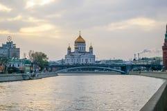 Christ la cattedrale del salvatore a Mosca immagini stock