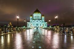 Christ la cattedrale del salvatore a Mosca fotografia stock