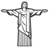 Christ la statua del Redeemer Fotografie Stock