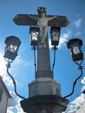 Christ of the Lanterns. Cordoba. Christ of the Lanterns (Cristo de los Falores) in the Capuchinos Square of Cordoba - Spain Royalty Free Stock Image