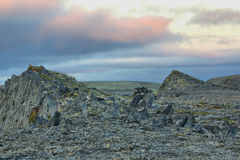 Christ lived in stone polar desert 40 days. Arctic Royalty Free Stock Photo
