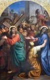 christ mary moder prague Arkivfoton