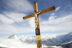 Christ of the Matterhorn Stock Photos