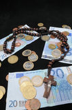 Christ and Money Stock Photography