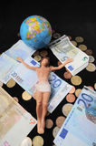Christ and Money Stock Image
